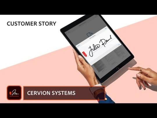 Cervion Systems |  Adobe Document Cloud